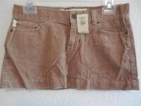 Womens Hollister Tan Corduroy Skirt Size 0 NWT ($34.50)