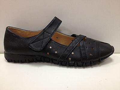 Buono Femmes Chaussures Babies Mocassins Neuf Noir P35 36 37 38 39 40 41 B2009-6