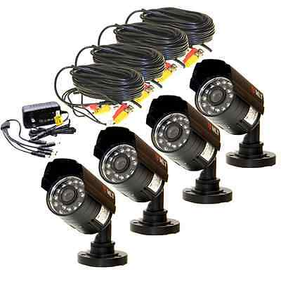 lot 4 Security Surveillance In/Out Waterproof 960P Cameras Wide Angle