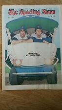 JULY 1,1972 THE SPORTING NEWS-TUG McGRAW & DANNY FRISELLA OF THE NEW YORK METS