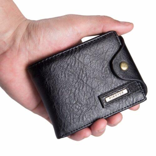 Pequeña Fondo hombres multifunción billeteras de cuero avec Bolsillo Cremallera