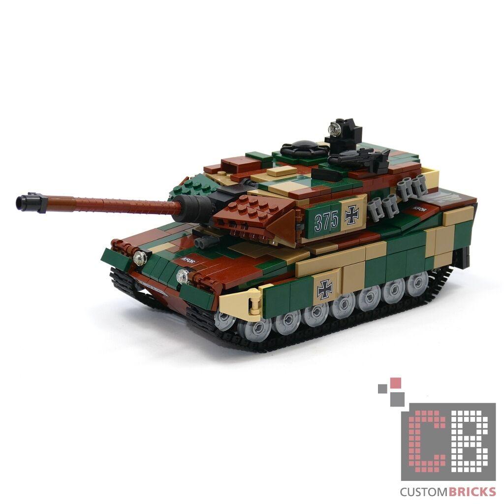 CB Custom Bundeswehr MBT Leopard 2a6 tanques de MOC lego  piedras-camo