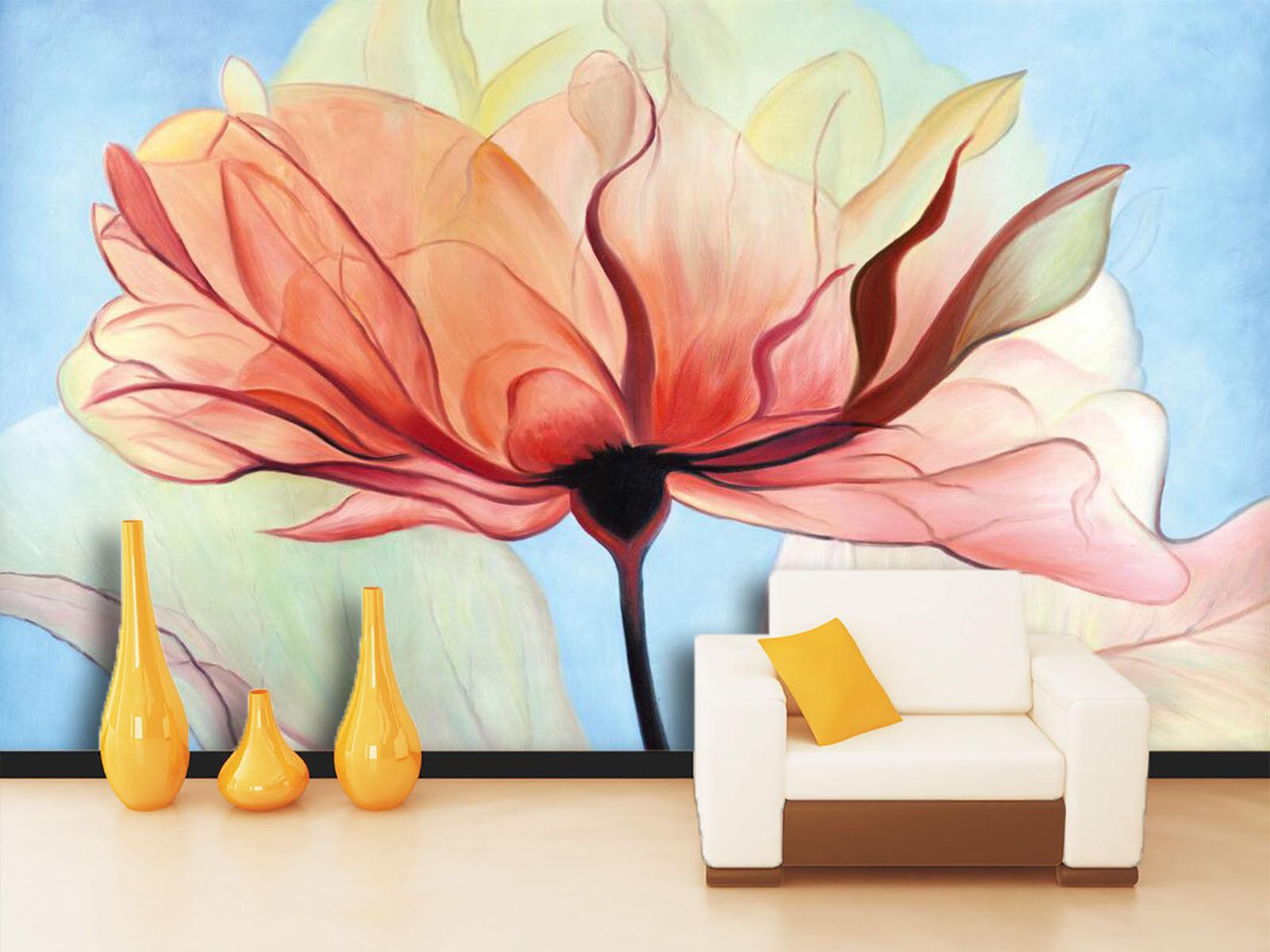 3D Lotus pink 653 Photo Papier Peint en Autocollant Murale Plafond Chambre Art
