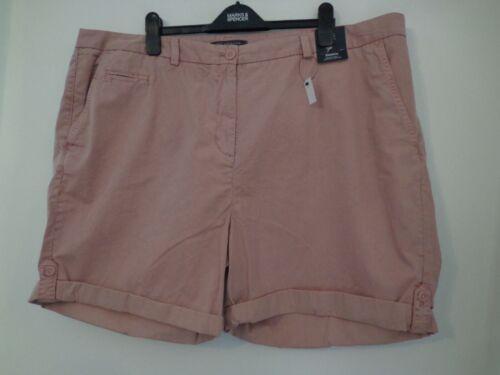 Rango De Colección BNWT Damas M/&S en Rosa Pantalones Cortos Tipo Chino de Superdry talla 24