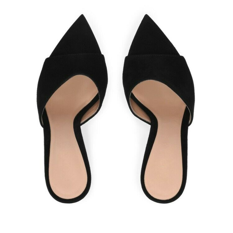 vendita online Summer Donna high stilettos heels slip on sticky sticky sticky leather pointy open toe scarpe  ottima selezione e consegna rapida