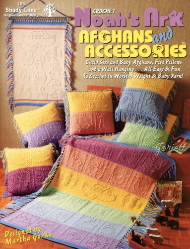 Noah/'s Ark Afghans and Accessories ~ Ark /& Animals crochet pattern booklet NEW