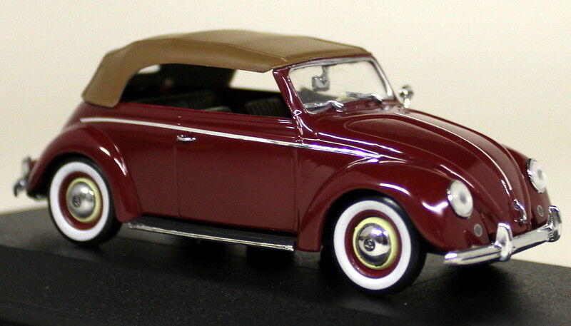 Minichamps 1 43 Scale 430 052040 VW Cabrio Softtop 1951 52 Red Diecast Model Car