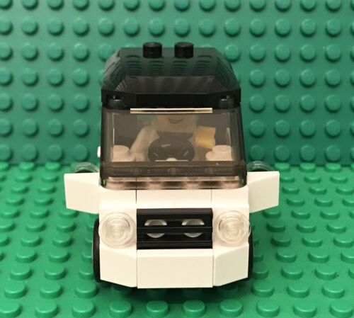 Lego MOC City Smart Car With Odometer,mirror,License Plate And Boy Mini Figure