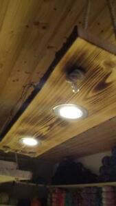 Deckenlampe Holz Hangelampe Rustikal Vintage Shabby Mit Led
