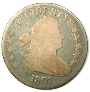 1807 Draped Bust Half Dollar 50C - VG Details - Rare Early Coin!
