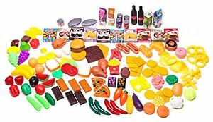 Kids Play Food Set Grocery Store Set Kitchen Accessories Assorted Toys For Girls