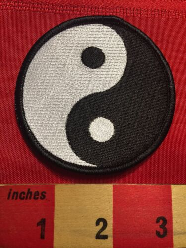 Cool Black /& White Yin /& Yang Symbol Jacket Patch Emblem Chinese Philosophy 66Z9