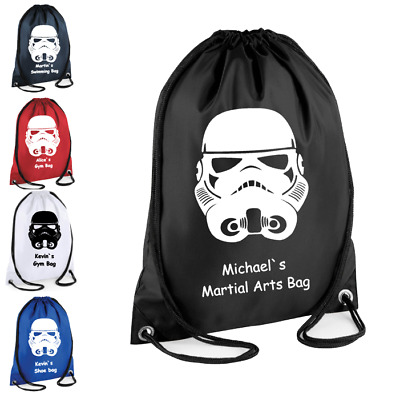 Kid/'s P.E Bag Personalised Official Star Wars Characters Drawstring Gym Bag