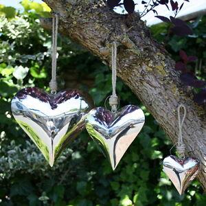 Herz zum h ngen 9 20 5cm edelstahl silber fensterh nger fensterdeko neu ebay - Fensterdeko zum hangen ...