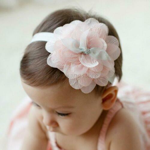 Toddler Baby Girl Flower Elastic Hairband Soft Headband Party Hair Accessories