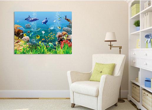 3D Pflanzen, Fisch Fototapeten Wandbild Fototapete BildTapete Familie AJSTORE DE