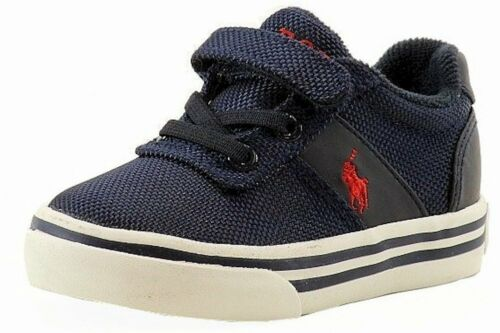 Polo Ralph Lauren Toddler Boy/'s Hanford EZ Navy Canvas Fashion Sneaker Shoes