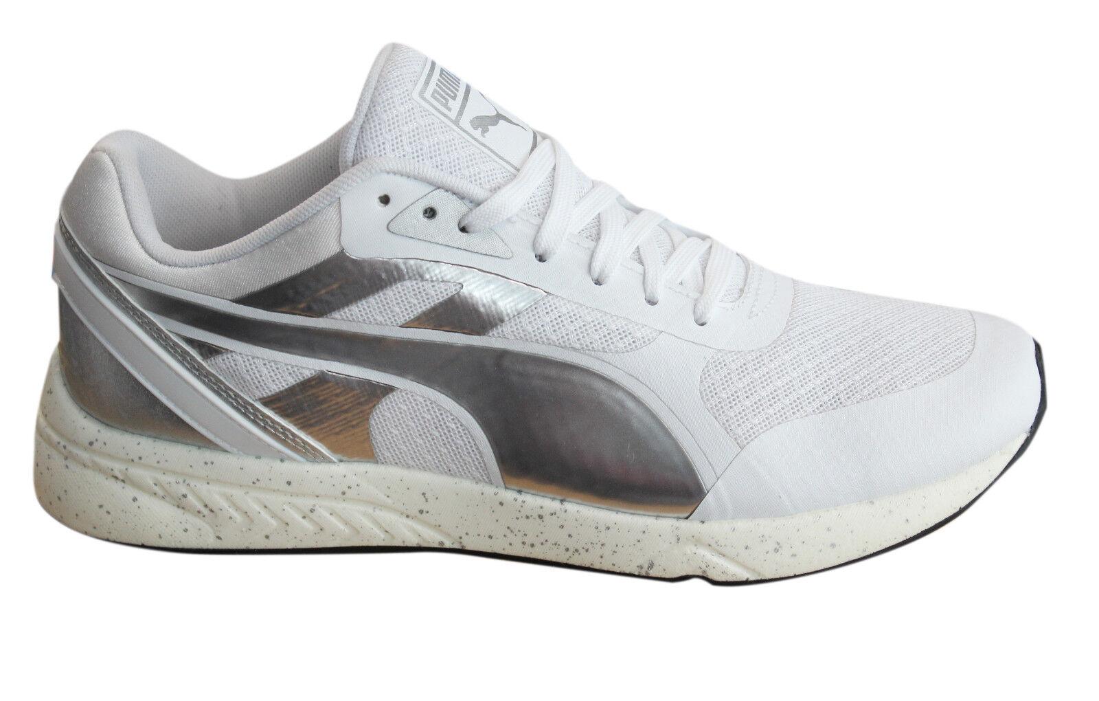 Puma 698 Ignite Metallic Femme Lace Up blanc fonctionnement Trainers 361086 02 D69