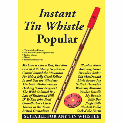 CD Only or Book and CD together Popular Book Only Instant Tin Whistle