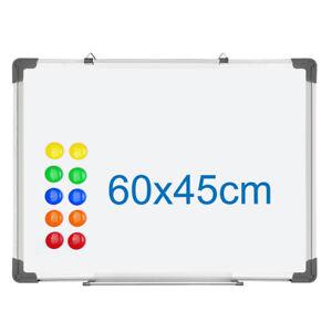 Whiteboard-Magnettafel-Wandtafel-60x45cm-magnetwand-12-Magnet-Praesentationstafel