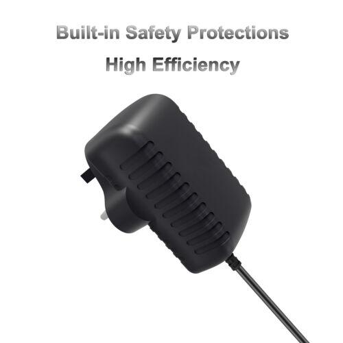UK PLUG AC//DC 12V 1A Power Supply Adaptor Transformer for CCTV Camera LED Sstrip