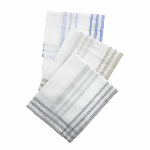 5 or 10 Pack Mens Walter Grange Handkerchiefs Hankies White or Striped Edge