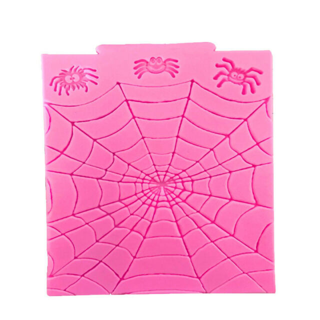Spider Wed Silicone Mold Fondant Cake Chocolate Decorating Tool Halloween Moulds