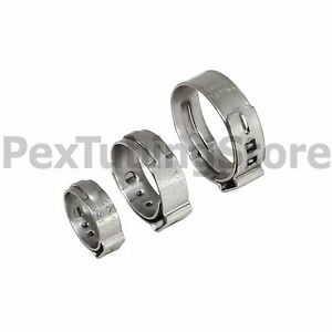 "(100) 1/2"" PEX Grip (Non-Slip) Stainless Steel Cinch Clamps SSC by Oetiker"