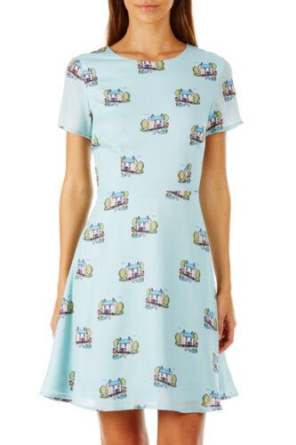 Sugarhill Boutique VERDE Isla Vintage Scena Fit e flare Dress 8-16