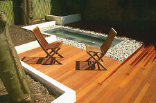 145 x 21mm Grooved/Smooth Balau Decking/Hardwood/Timber Deck Boards