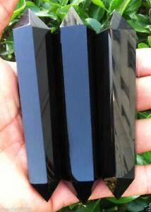 3pcs-90-120MM-Natural-obsidian-Quartz-Crystal-Double-Terminated-Wand-Healing