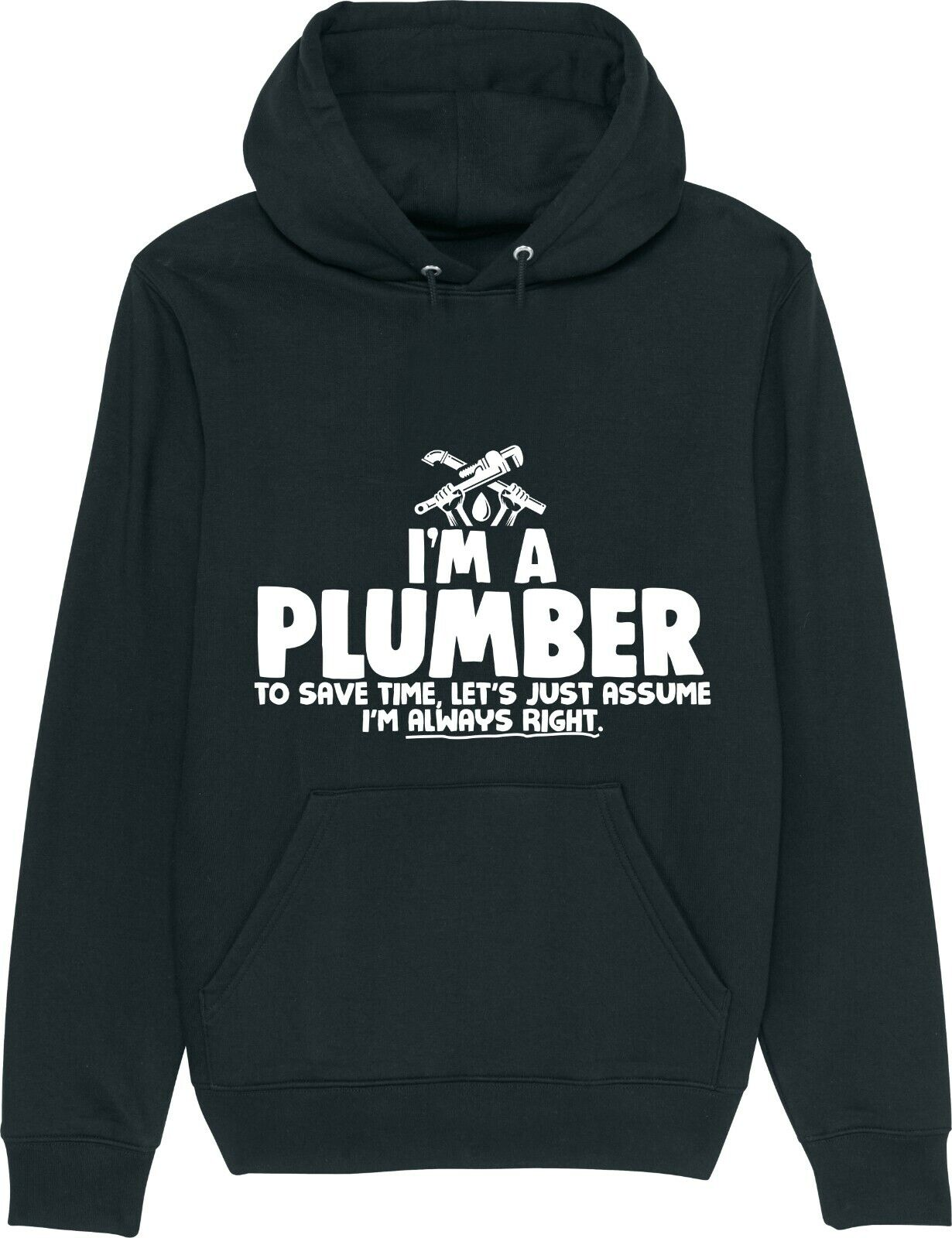 PLUMBER - I'm A Plumber - To Save Time I'm Always Right Plumbing Funny Hoodie