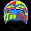 AIROH CASCO ST501 THUNDER 2018 BLUE GLOSS ON ROAD FULL FACE HPC ST5TH18