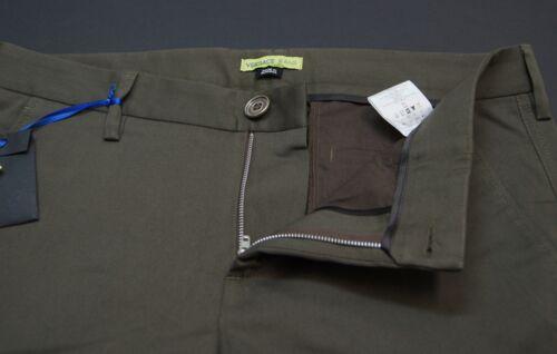 Leg Nwt Twill New Green Heren 195 Chino Jeans Pants Mogano Straight Versace wOXxvt