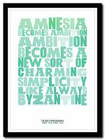 ❤THE NEW PORNOGRAPHERS - Sweet Talk  lyric poster typography art print - 4 sizes