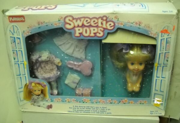 #1097 NIB Vintage Playskool Sweetie Pops Party Time Doll