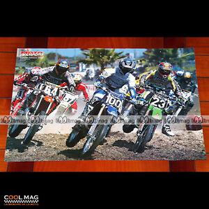 ERNESTO FONSECA sur sa YAMAHA N°100 en 1999 Poster Pilote Moto CROSS #PM1346