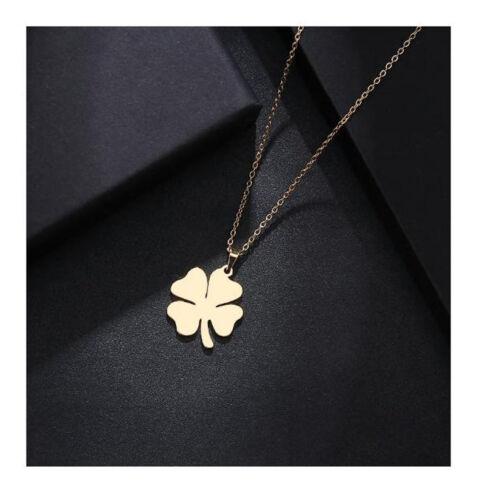 Trébol collar aretes pulsera edelsthal brazalete amuleto de pintura dorada
