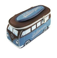 Oficial VW Camper Camioneta Impermeable para Hombre Pequeña bolsa de lavado de aseo-Azul Gasolina