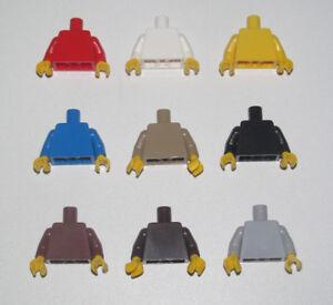 Lego-Torse-Bras-Main-Minifig-Classic-Couleur-Unie-Choose-Torso-ref-973-NEW