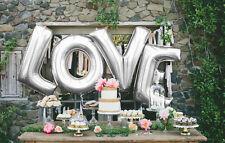 Love Letter - 40 Inch/100cm Foil Wedding Balloons Silver Letters - UK SELLER