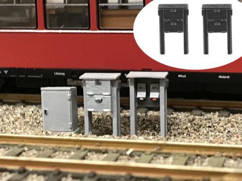 Modellbahn Union MU-TT-A00269 TT Schaltkastengerüst 2x