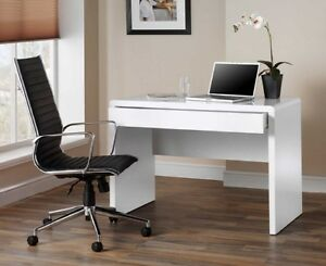 Image Is Loading Luxor White Gloss Home Office Desk Workstation With