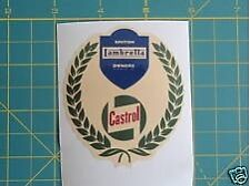LAMBRETTA / VESPA / SCOOTER Castrol Laurel Shield Sticker GP,TV,LI,SX,GT. 200