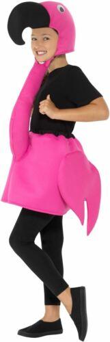 Boys Girls Flamingo Costume Kids School Book Week Fancy Dress Outfit Animal Bird