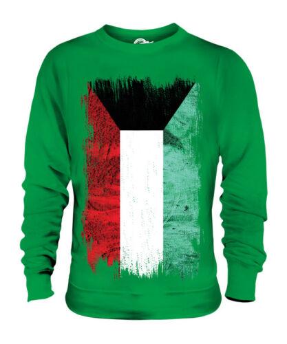 KUWAIT GRUNGE FLAG UNISEX SWEATER TOP AL-KUWAYT FOOTBALL KUWAITI GIFT SHIRT