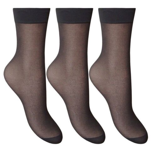 6 Pairs Ladies Sheer Ankle High Trouser Pop Socks  SIZE 4-7 UK Many Coloure