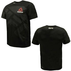 Reebok-Mens-UFC-FK-Blank-Jersey-Gym-Training-T-Shirt-Black-AZ9022-A16E