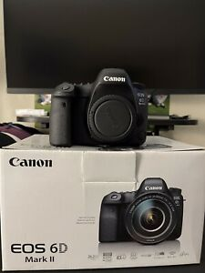 Canon EOS 6D Mark II Digital SLR Camera Bundle W/ Extras Great Used Condition