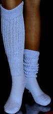Lt Blue Slouch to Knee Socks Heavy Scrunchie Large Hooters uniform school long